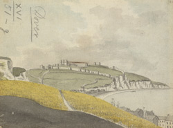 Dover Castle and cliffs